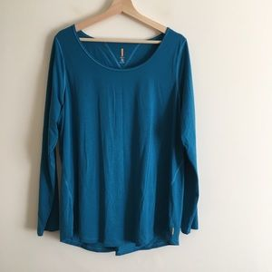Lucy Workout Athletic Long-Sleeve Bright Blue